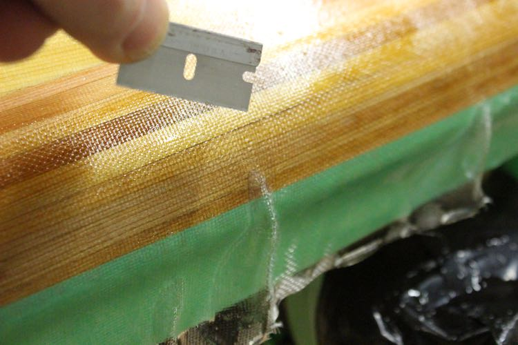 Hot Coating a paddleboard - Fix Imperfections