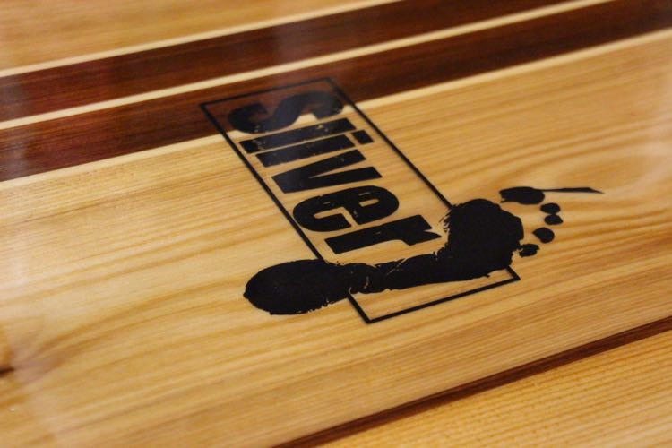 Hot Coating a paddleboard - Logo