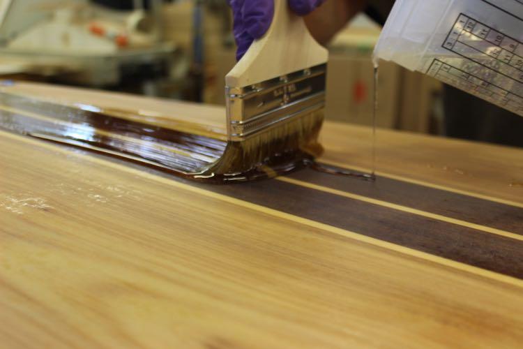Hot coating a paddleboard