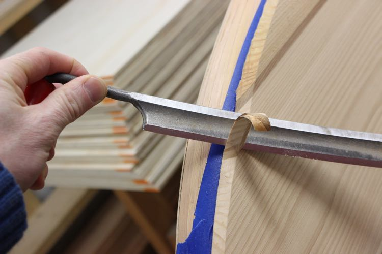 How to build a wood paddle board - Shaping the Top 2