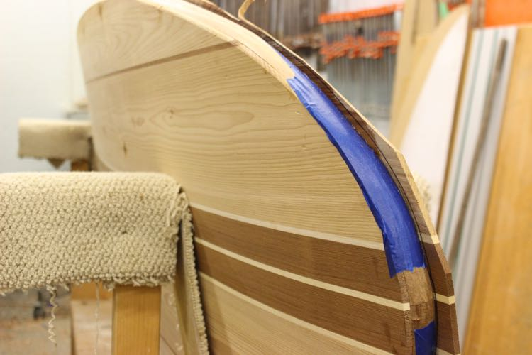 How to build a wood paddle board - Shaping the Top