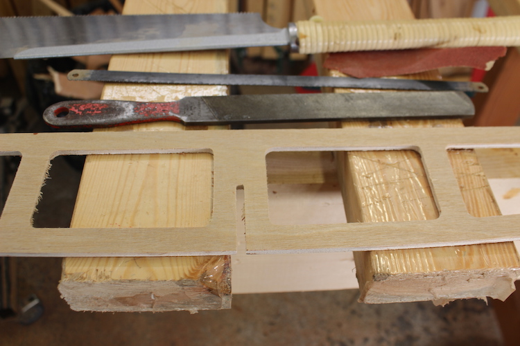 How to build a wood surfboard or paddleboard - Fishbone ribs 5
