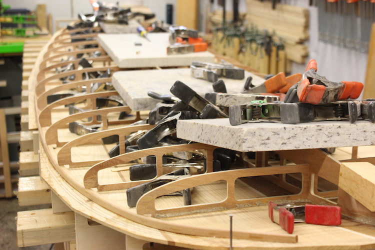 How to build hollow wood surfboard rails 1