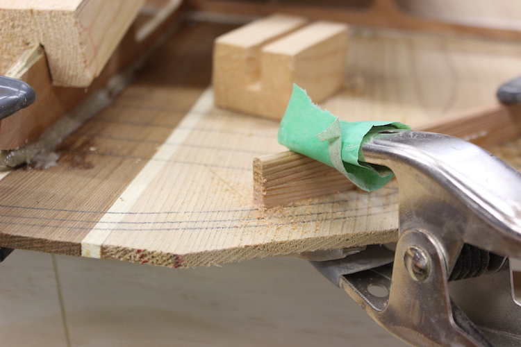 How to build hollow wood surfboard rails 9