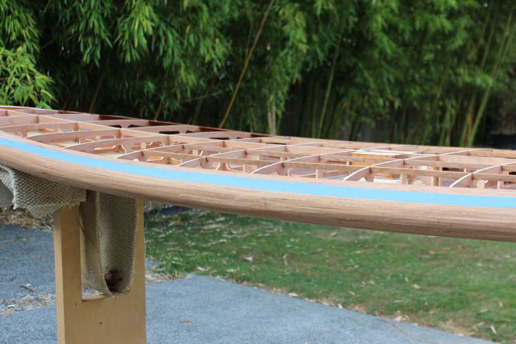 How to feather paddle board rails 1