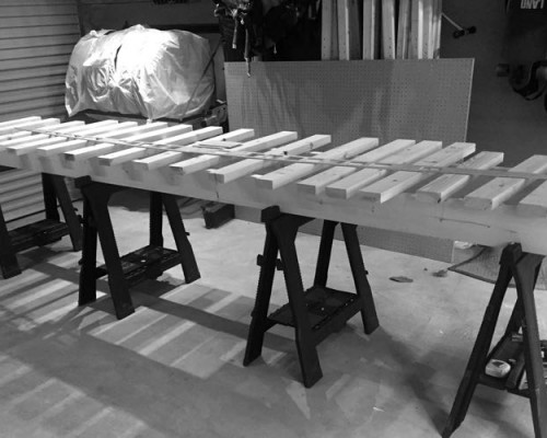 Paddle Board Assembly Table