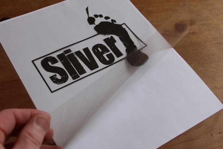 Sliver Paddleboards - acetate film logo