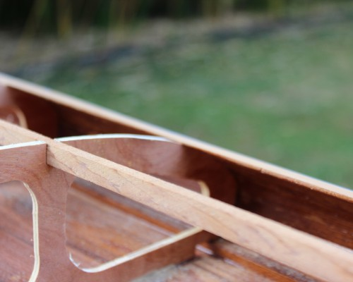 Sliver Paddleboards - wood paddleboard construction - ready for decking
