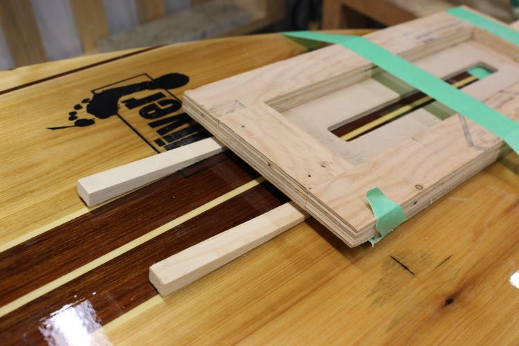 fin box install - level jig
