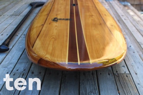 10' wood paddleboard kit